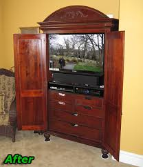 Media Center Armoire How To Retrofit Or Modify Your Old Entertainment Center To