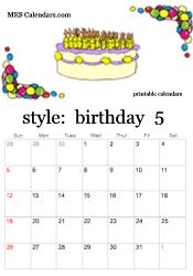 free printable birthday calendars personalized calendars to