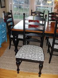Black Dining Room Chairs Farmhouse Chairs Set Of 6 Dining Chairs White Shabby Chic Mix