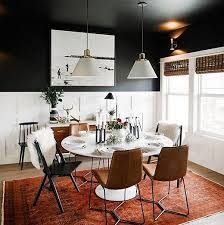 Dark Dining Room Table Best 25 White Dining Chairs Ideas On Pinterest White Dining