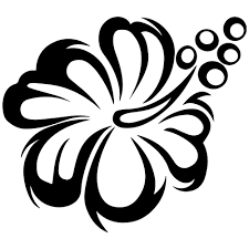Image Of Hawaiian Flag Flag Black And White Clipart