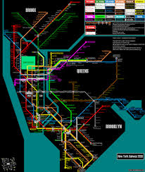 New York Rail Map by Fantasy Transit Maps Map Metro Subway Architect Urban