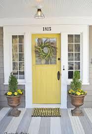Front Door Color Best 25 Colored Front Doors Ideas On Pinterest Front Door Paint