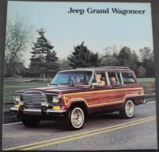 jeep grand wagoneer original dealer sales brochure