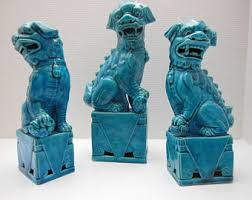 blue foo dogs foo dog etsy