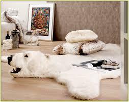 faux bear rug home design ideas