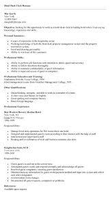 Hotel Desk Clerk Job Description Hotel Job Resume Sample Free Resume Example And Writing Download