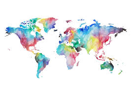Wold Map Water Colour World Map Hd Nature Wallpaper