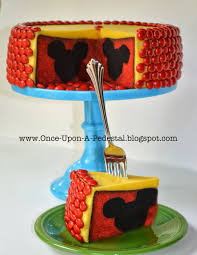 once upon a pedestal surprise inside cake hidden mickey mouse