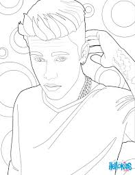 coloring pages tattoos justin bieber and his tattoo coloring pages hellokids com