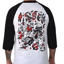 men u0027s cartel ink tattoo flash one baseball t shirt white