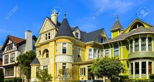 victorian homes pacific heights san francisco stock photo picture