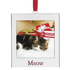 cat photo ornament lenox ornament picture frame ornament