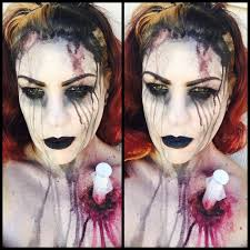 halloween gore background syringe wound mua rebecca morgan bloody stabbed needle nurse