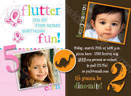 2nd Birthday Invitation Card Double Birthday Invitations U2013 Gangcraft Net