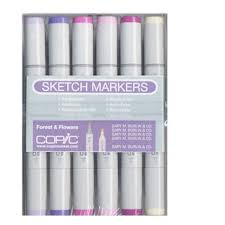 copic forest and flowers sketch marker 12 piece set