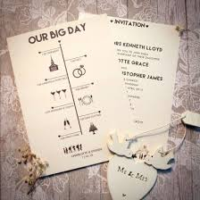 timeline day invitation wedding invitations