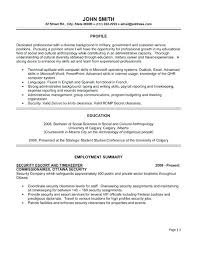 security resume examples and samples security resume template