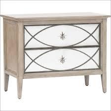 nightstand mirrored glass bedroom furniture oak nightstand under