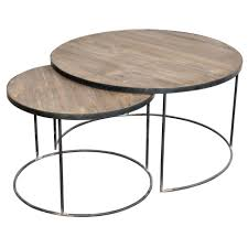 coffee table captivating set of two round coffee tables table with