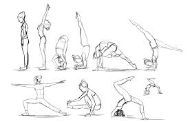 yoga poses sketches healing plaza info