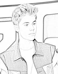 justin bieber coloring pages justin bieber coloring pages to print