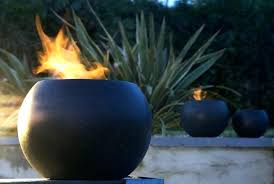 Gel Firepit Gel Pit Table Personal Use Bowl Willed With Rocks And Can For