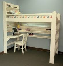 How To Make A Loft Bed With Desk Underneath by Bunk Bed Computer Desk Foter