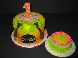 Luau Cake Decorations Luau Cake U0026amp Smash Cake