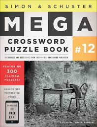 simon u0026 schuster mega crossword puzzle book 12 john m samson
