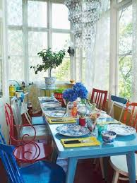 blue painted dining table 21 modern interior decorating ideas bringing stylish blue color shades