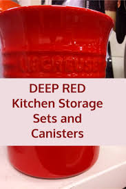 red ceramic fleur de lis kitchen canisters u2013 red kitchen accessories