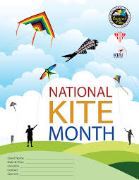 national kite month posters