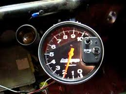 autometer monster tach light bulb new autometer 5 tach with shift light in the race car youtube