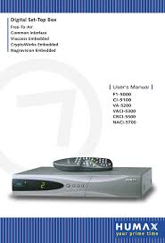 humax satellite tv system naci 5700 user guide manualsonline com