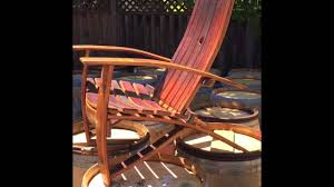 Wine Barrel Rocking Chair Plans Barrel Dreams Adirondack Chair Spring Rollout 2015 Youtube