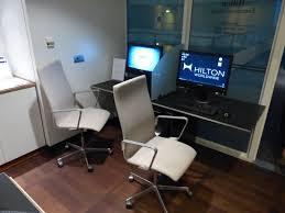 Computer Lounge Chair Hilton Copenhagen Airport Executive Lounge Copenhagen