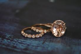 morganite ring gold diamond gold morganite engagement ring gold