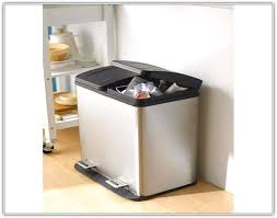 kitchen bin ideas kitchen trash and recycle bin combo home design ideas trash