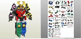 power rangers samurai megazord pepakura eu