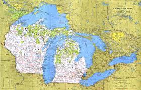 map of michigan lakes map of michigan and the great lakes michigan map