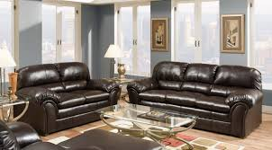 vintage leather chesterfield sofa vintage bonded leather sofa u0026 loveseat set w heavily padded back