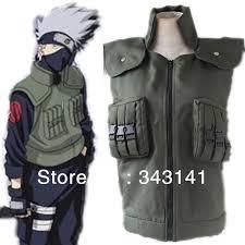 mardi gras vest free shipping hatake kakashi costumes vest japanese anime
