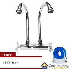 vip 3333 wall mounted double kitchen sink water tap faucet
