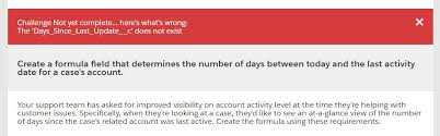 the formula should return the number of days between the account s