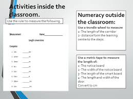 session 1 metric ruler measurement using centimetres and
