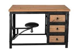 bureau industriel bois et metal bureau en bois industriel m tal noir erevan achat bureau