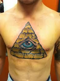 tattoo chest triangle coloured triangle eye chest tattoo tattoomagz