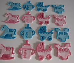 fondant baby shower cupcake toppers handmade edible baby shower