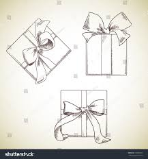 boxes with bows set gift boxes bows stock vector 166580672